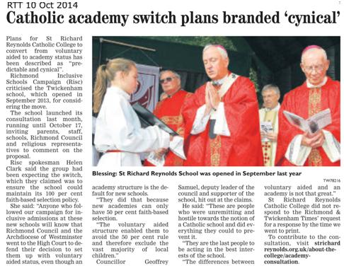 RTT Catholic academy